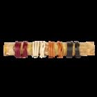 Valódi bőr aroma-karkötő bordó sima