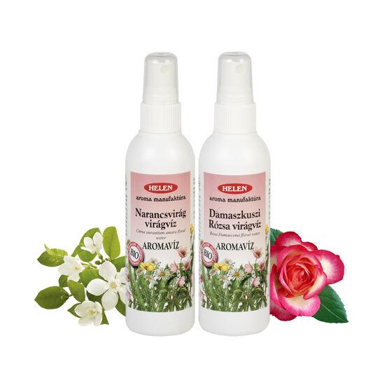 Bio Damaszkuszi rózsa és Narancsvirág virágvíz akciós csomag